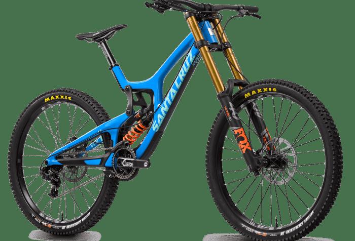 Santa Cruz V10 in versione blu (santacruzbicycles.com)