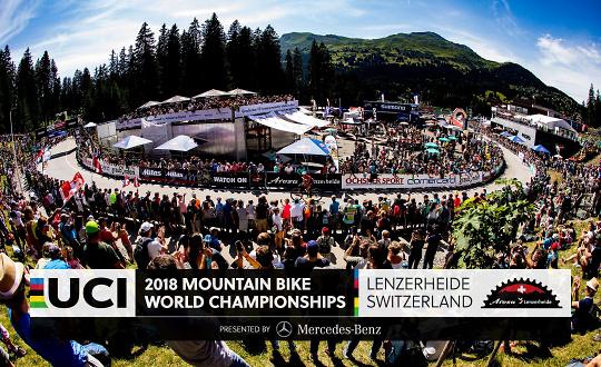 Immagine di copertina dei mondiali mtb di Lenzerheide 2018 (lenzerheide.com)
