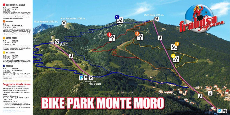 Mappa del Bike Park Monte Moro (down-hill.it)
