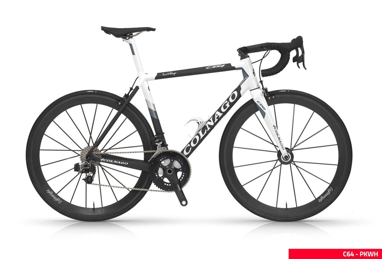 Bici da corsa Colnago C64 con telaio in fibra di carbonio (sito web colnago.com)