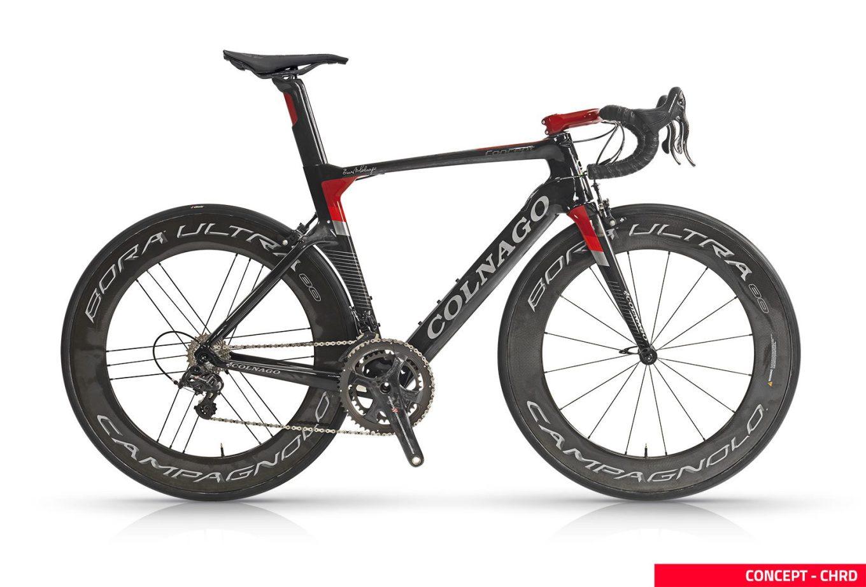 Bicicletta da corsa Colnago Concept con gruppo Campagnolo e ruote Campagnolo Bora Ultra ad alto profilo (colnago.com)
