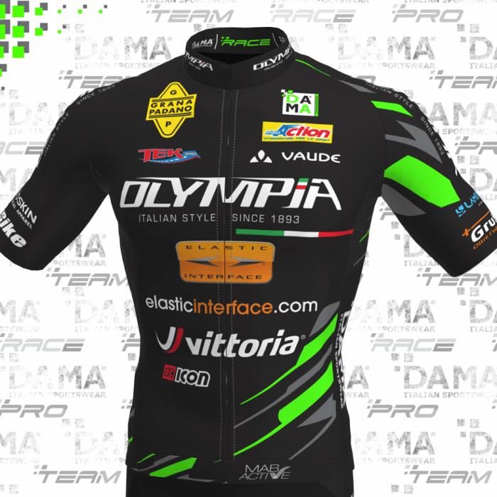 La maglietta utilizzata nel 2019 dai ciclisti dell'Olympia Factory Team (immagine da Fb)