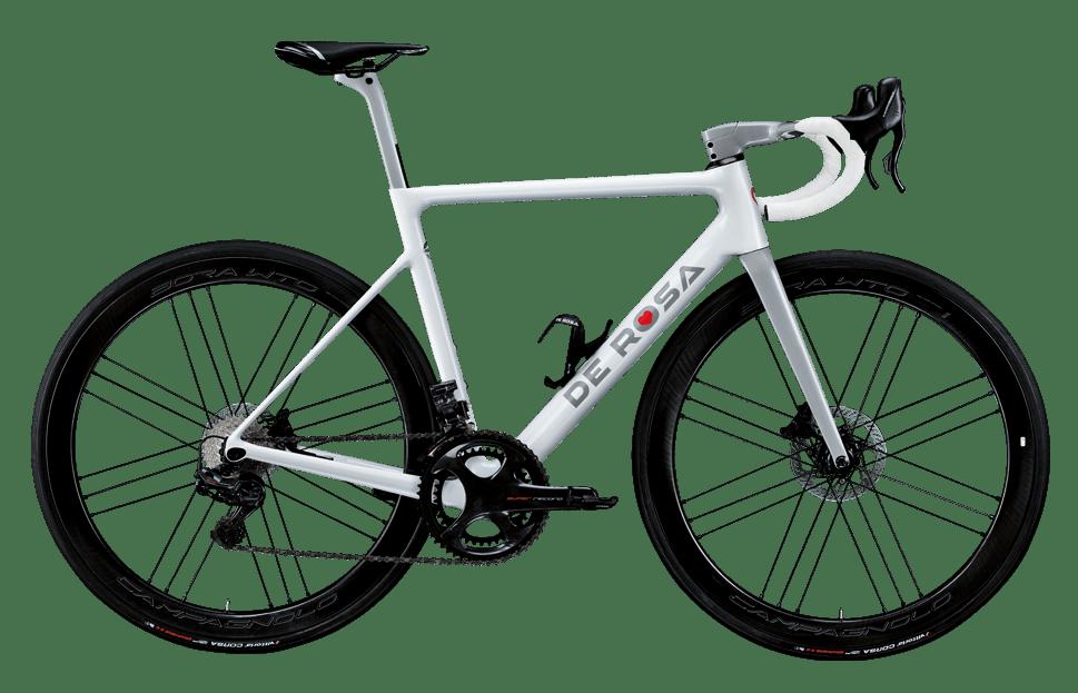 Immagine della bici da corsa De Rosa Merak in colorazione bianca (foto dal sito derosa.it)