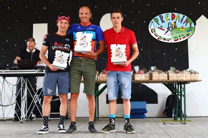Podio della gara maschile: da sx Mattia Zadra, Stefano Pedot e Daniele Rossi (foto Thomas Martini e Federica Osler)