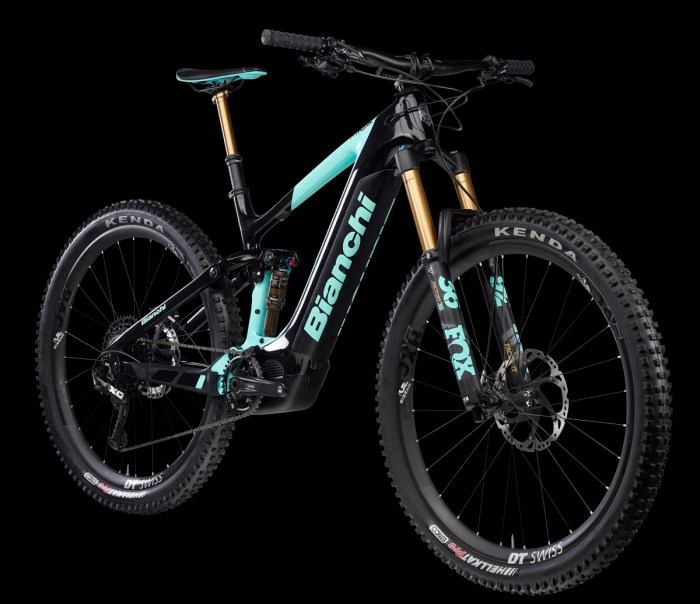 Foto della mountain bike elettrica da trail -enduro Bianchi T - Tronik Perfomer 9.1 (immagine da bianchi.com)