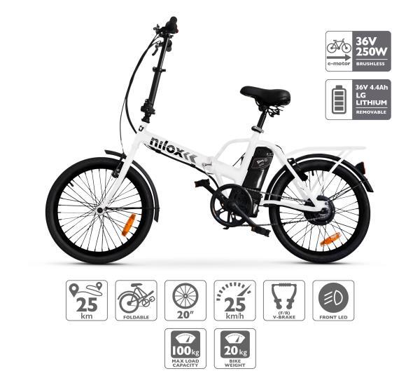Fotografia della ebike pieghevole a pedalata assistita Nilox X1 (immagine dal sito web nilox.com)