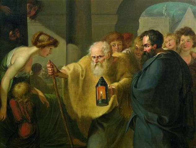 Diogenas su žiburiu