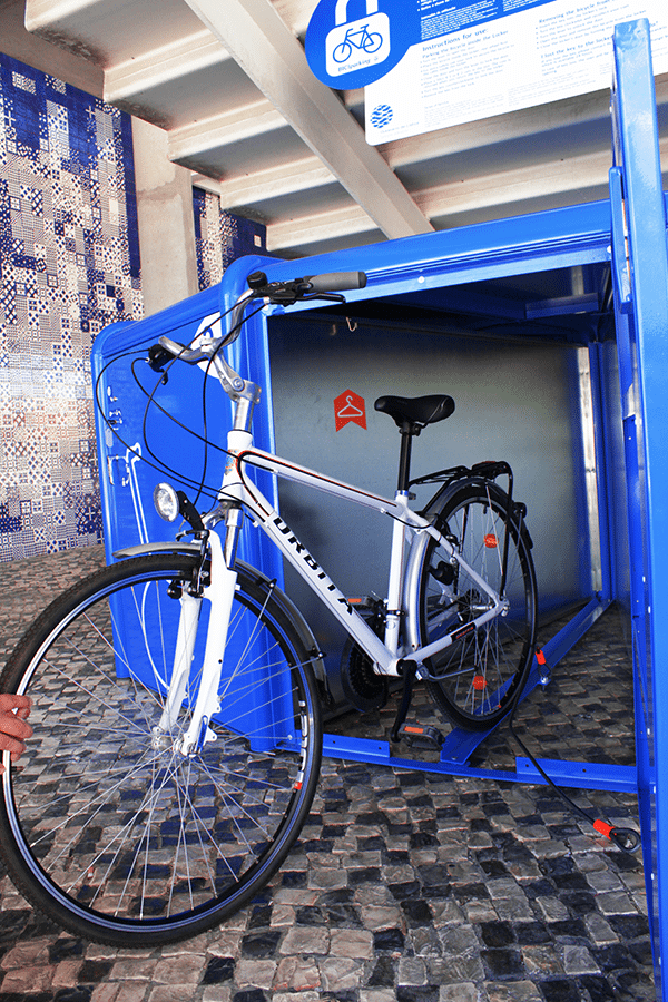 BiciSafe Basic Single Bicisafe Basic Public Bike Locker for one Bike. Extremely safe and easy to use.