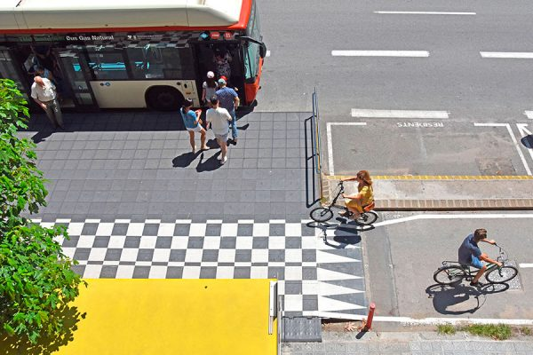vectorial zicla Cycle lane parada bus stop