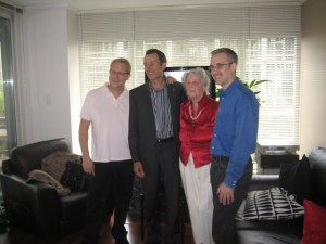Sean, Peter Ladner, Sean's Mom & spouse Tom