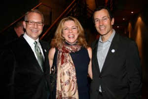 Sean w/friend Christine and Peter Ladner