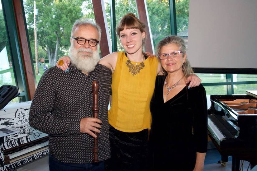 Composer Rodney Sharman, Cellist Ramina Hasselberg and Soprano Cathy Fern-Lewis