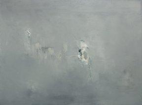 Danielle Voight Throe Awaits the Question, 2013 [DV.18] Oil on Canvas 36 x 48 in.