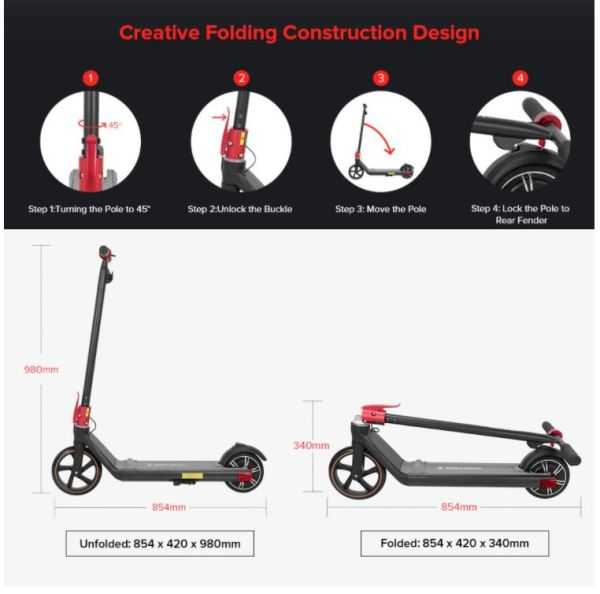 Kugoo Kirin Mini 2 Kids and Children Electric Scooter- Easy Folding Kids Scooter And Measurements - Sale In Bicycle Land