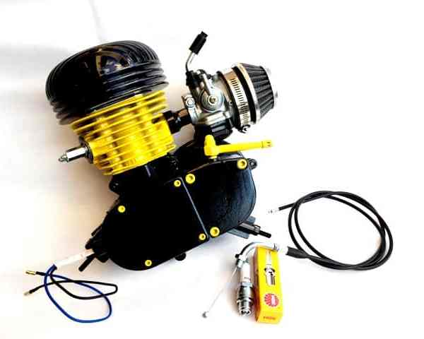 Yellow Mid-Level Racing 66cc Bike Engine