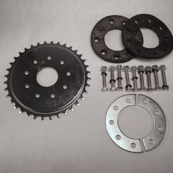 36 Tooth Sprocket, Mount and Hardware