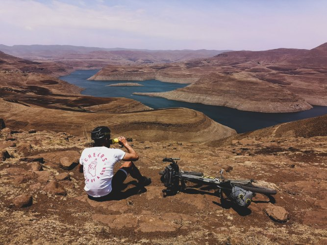 Taking a moment to enjoy the sheer magnitude and beauty of the Katse Dam in Lesotho.