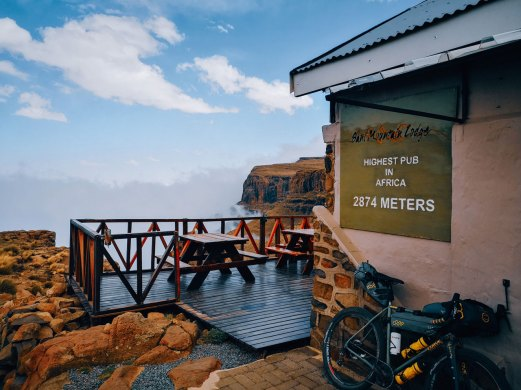 The highest pub in Africa, the Sani Pass Hotel