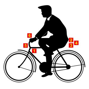 Bike rider with numbers