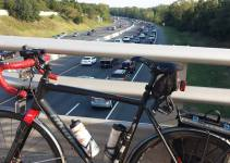 Bike commuting in stop-and-go traffic