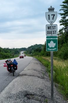 First encounter with the Trans-Canada Highway