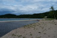 One of the many beaches along Lake Superior