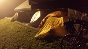 We camped on the concrete pad behind the visitor's centre after arriving in Port Aux Basques at 1am.