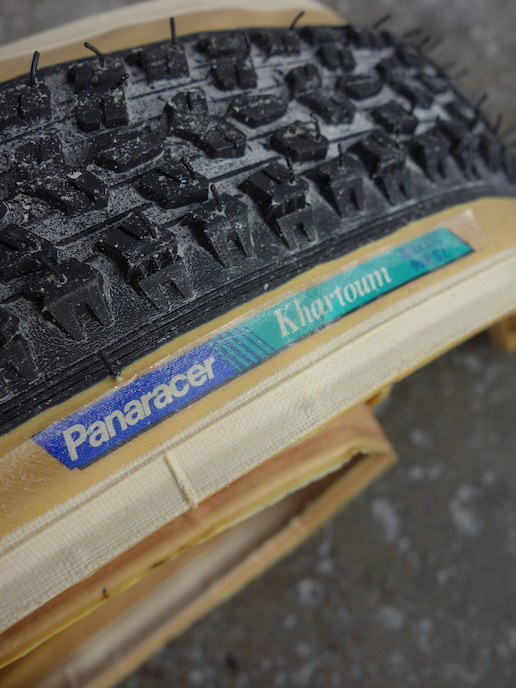 New old stock Panaracer Khartoum mixed terrain 700c folding skinwall tyres from the 1980s
