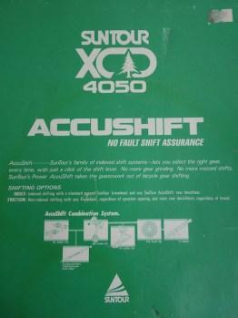 NOS Mini gear groupset from Suntour - XCD 4050