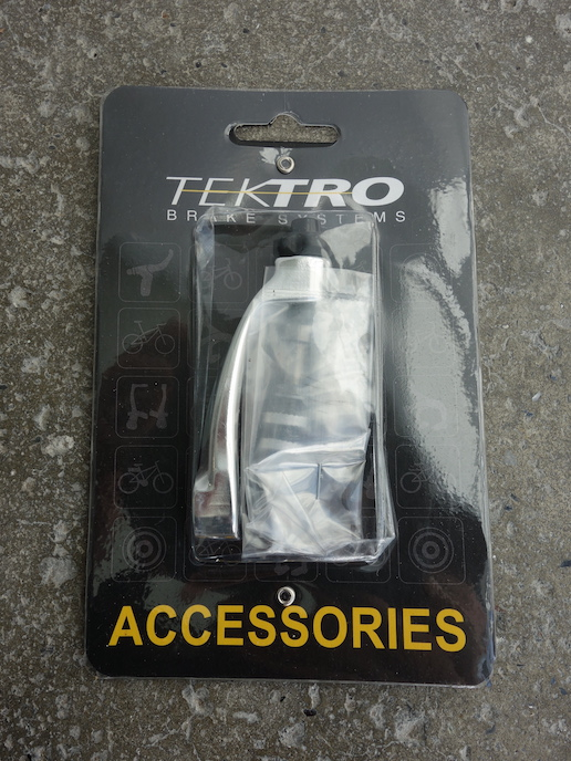 Tektro brake cable stop for front forks with barrel adjuster