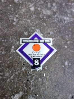 NOS Orange frame tubing decal - series 8 steel