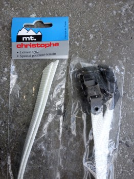 Mt Christophe white nylon toe straps