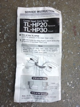 Shimano TL-HP20 crown race remover