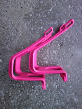 Specialized neon pink toe clips for MTB