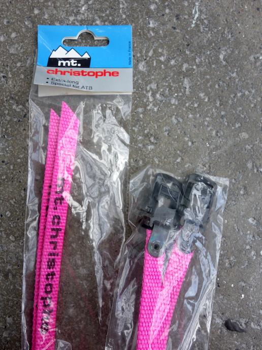 Mt Christophe neon nylon MTB toe straps – Pink