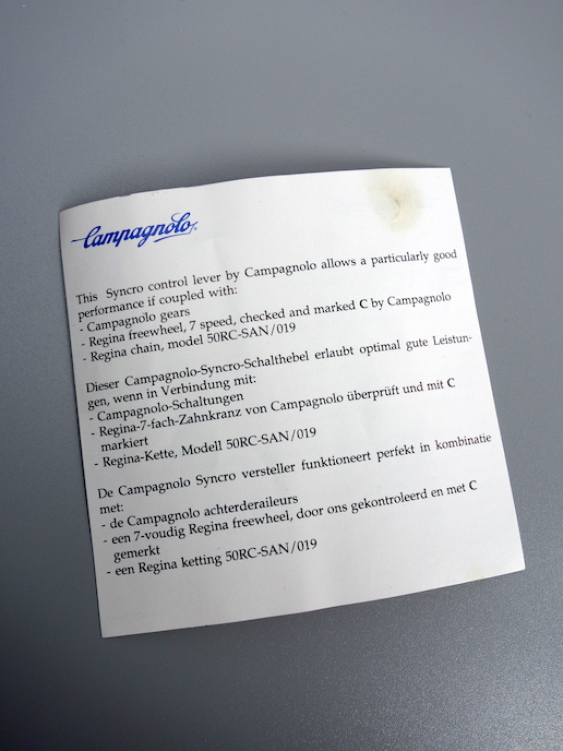 Campagnolo Centaur Syncro thumbshifters – 7 x 3