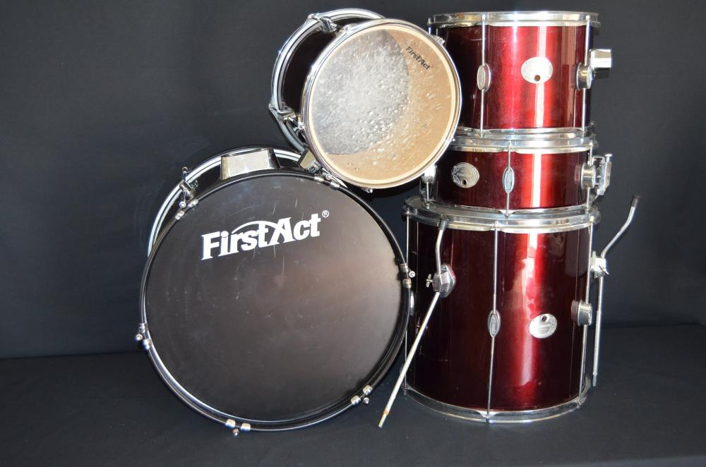 First Act Drum Set Lot 1335 of 344  First Act Drum Set