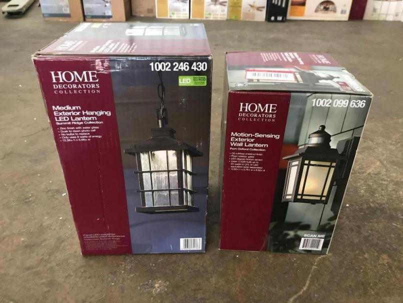 8df3762decb Home Decorators Port Oxford Motion Sensing Exterior Wall Lantern And. Home  Decorators Collection Medium ...