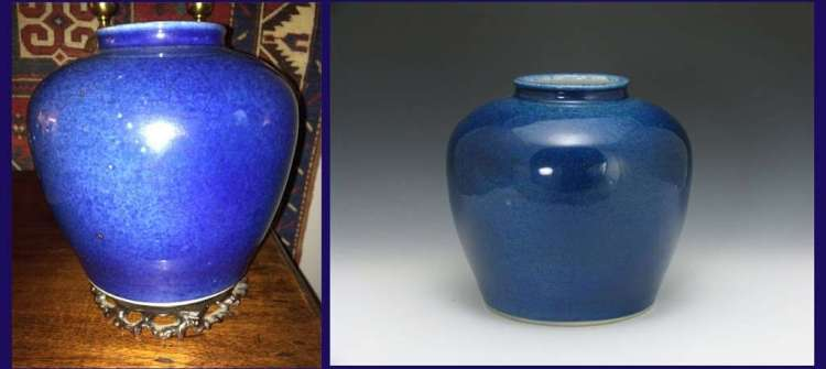 Chinese Ming Dynasty Cobalt Guan Jar