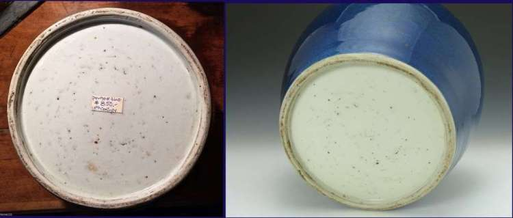 Foot and Base Ming Dynasty Cobalt Guan Jar