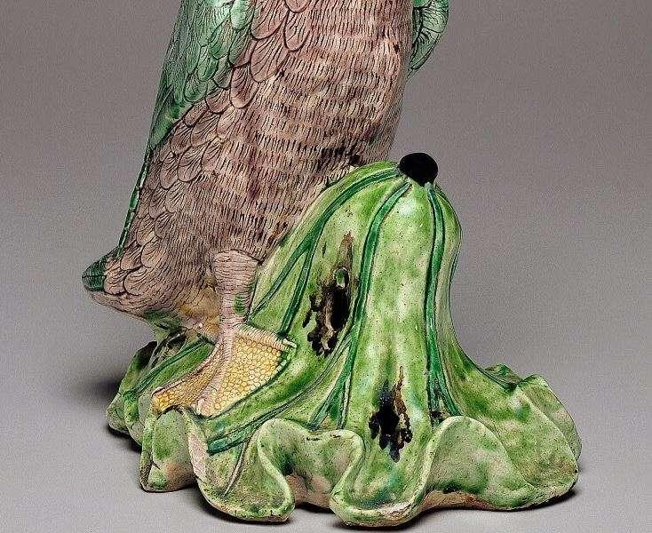 Chinese Kangxi Famille verte porcelain duck