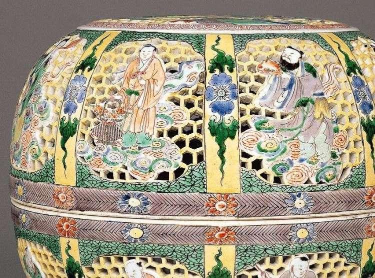 Kangxi Famille Jaune-Verte Perfume Box