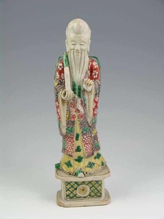 Kangxi Period Famille Verte Luohan Figure