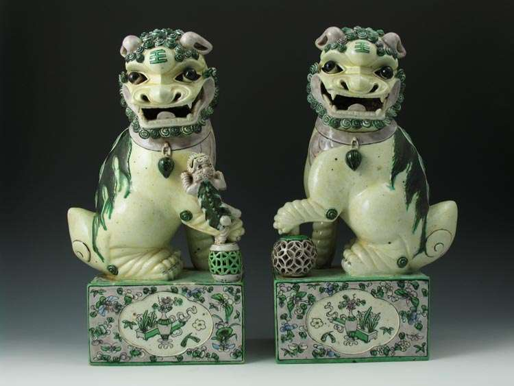 Early 19th C. Chinese Foo Lions