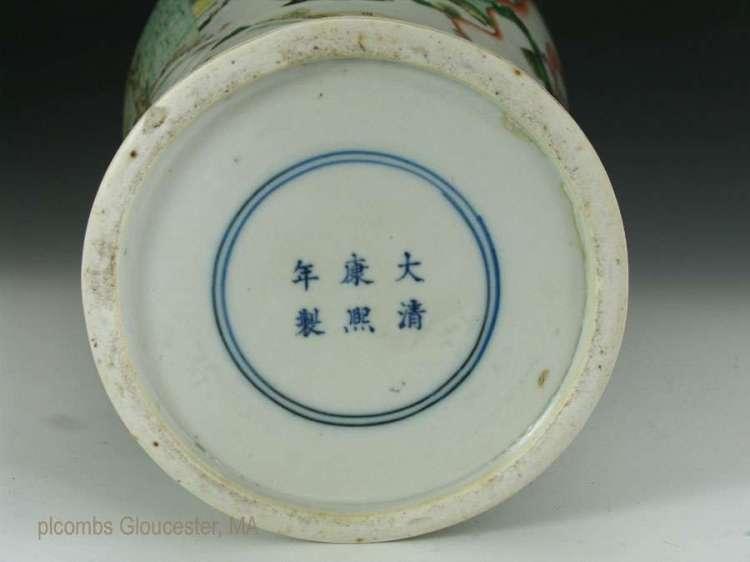 19th C. Chinese Famille verte vase