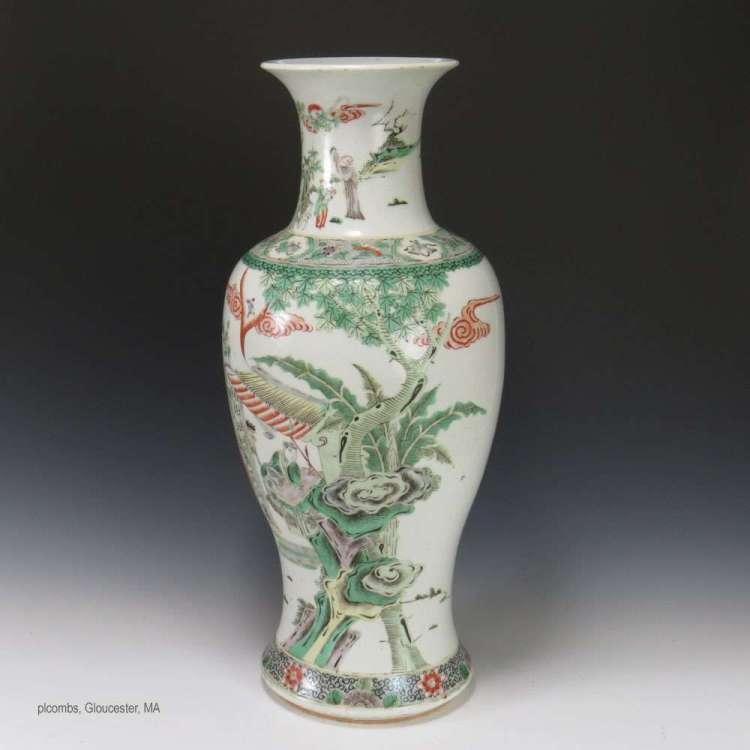 19th C. Chinese Famille Verte porcelain vase