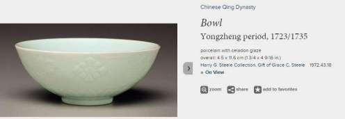 Fine Yongzheng Celadon Bowl 1723-1735.