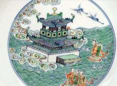 Detail Chinese Yongzheng Docai Dish