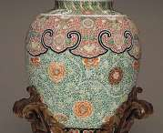18th C. Chinese Famille Verte Jar