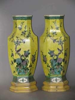 19th C. Famille Noire vases